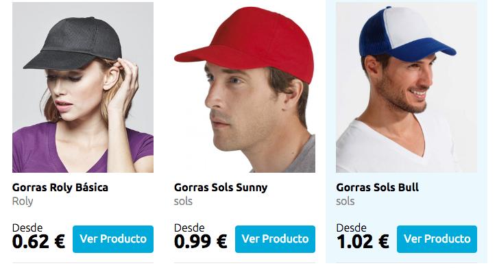 Gorras personalizadas impacto33